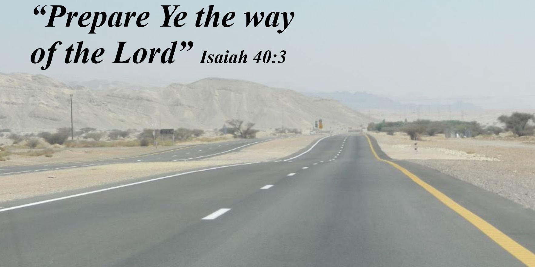 Luke 1 Prepare the way of the Lord
